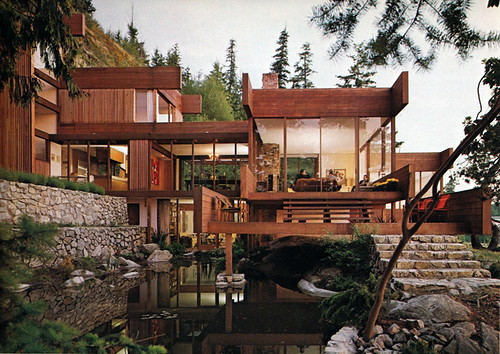 Arthur Erickson, architect, house in West Vancouver