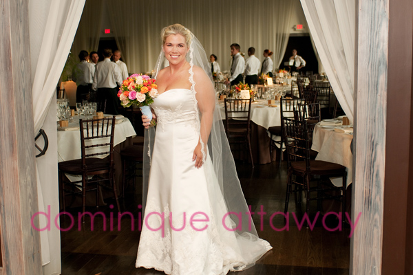 bride in front of veritas ball room