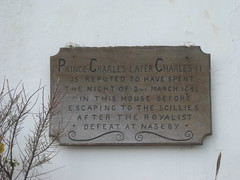 Photo of Charles II plaque