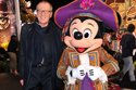 Geoffrey Rush and Mickey Mouse