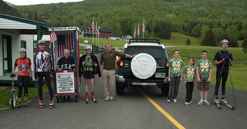 The line-up of VERY interesting folks about to tackle the Mt Washington Auto Road in their own unique ways.
