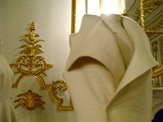 long white dress detail