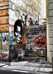 Squallori urbani (Marco Trovò) Tags: italy graffiti italia milano case murales lombardia hdr palazzi biciclette zonatortona viasavona marcotrovò marcotrovo