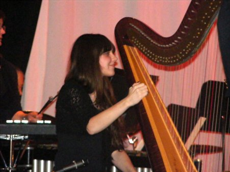 Mollie with Harp