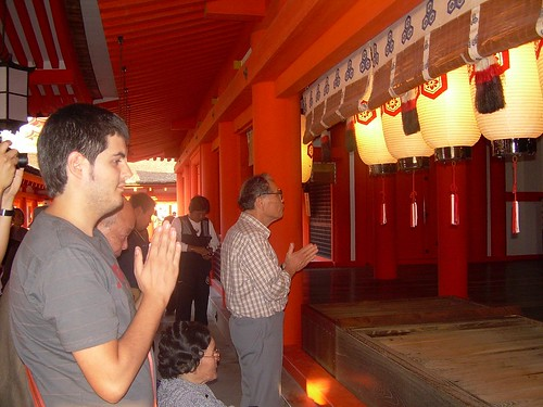En un santuario sintoísta de Miyajima