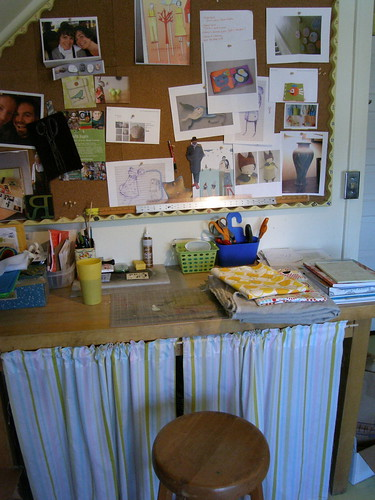 work table - inspiration board