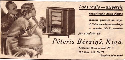 Labs radio - uztvērējs, Pēteris Bērziņš, Rīgā