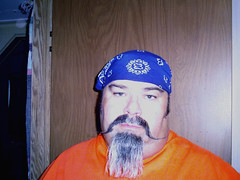 2/365 project 365 (fatslick70) Tags: blue orange goatee mustache handlebars