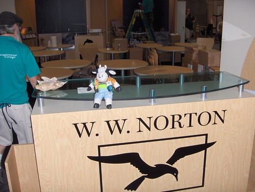 Welcome to the brand-new W. W. Norton BEA booth!