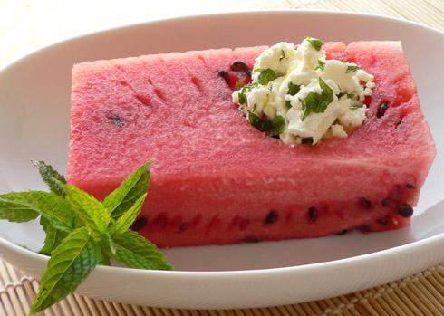 Wassermelone, Feta & Minze