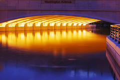 East Washington Avenue Bridge over the Yahara River at Dawn (Madison Guy) Tags: wisconsin dawn lights madison wi yaharariver eastwashingtonavenuebridge enlightedbridge