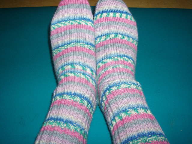 Stripey socks for Holly by nikimv