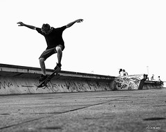 air (ale neri) Tags: street travel people blackandwhite bw blackwhite jump jumping republic czech prague praha praga skate czechrepublic skater reportage repubblica ceca abigfave aleneri alessandroneri