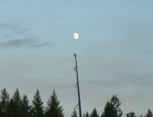 Moon and fishing pole