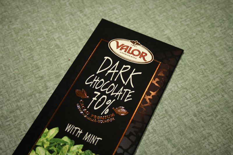 Valor: Dark Chocolate 70% with mint