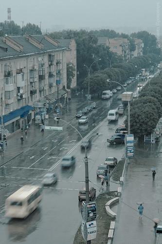 Rain meets Chernivtsi