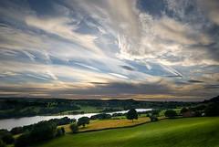 A peek at the Peak District (gms) Tags: uk sunset england sky clouds nationalpark scenery peakdistrict cottage peak reservoir rudyard rudyardreservoir