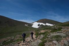裏旭岳の雪紋