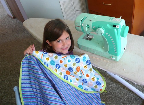 Sewing project on Hello Kitty Sewing Machine!