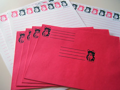 lucky kitty stationery