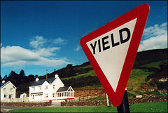 Ireland - Yield (manlio_k) Tags: ireland sky green meadow yield signal manlio castagna aplusphoto manliocastagna manliok