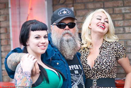Willie and Jenna and friend at Tropical Tattoo