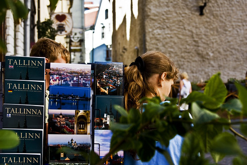 Postcard Stand From Tallinn
