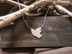 Large Dove Necklace (bbel-uk) Tags: bird nature silver necklace peace dove charm pendant swooping bbel