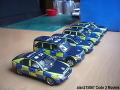 1:43 Essex Police Road Policing Unit Fleet (alan215067code3models) Tags: auto road art ford volvo police rover land fleet essex schuco unit minichamps policing motorart