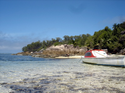 Anse aux Courbes on Mahe (Seychelles)
