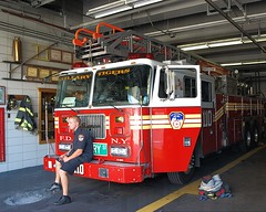 "E207l FDNY ""Tillary Tigers"" Ladder 110, Fort Greene, Brooklyn New York City (jag9889) Tags: county city nyc house ny newyork building station architecture brooklyn truck fire downtown 110 engine company kings tigers borough ladder firehouse fdny department firefighters fortgreene seagrave 207 bravest tillary engine207 tillerystreet ladder110 division11 battalion31 e207"