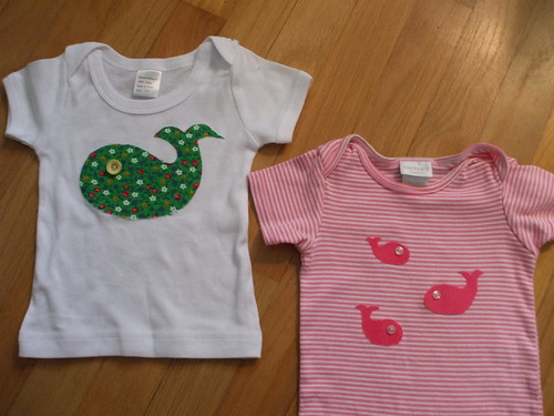 whale shirt and onesie