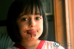 [ Crazy Of Chocolate ! ] (` ms.Qtr) Tags: summer portrait people baby cute eye love girl beautiful beauty face hair children person yummy crazy eyes mess flickr pretty day child gulf view little sister chocolate young adorable arabic human cheeks messy nutella sis 2008 aisha doha qatar beautifully cacao chlid mashallah shoshi childrenportrait flickcom famel