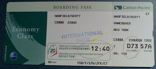 NYC Boarding Pass