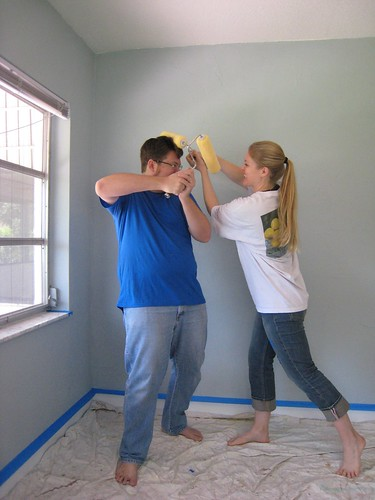 Adrian & Lissa painting Baby Z's Room