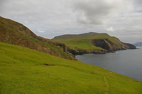 Faroe Islands - path through Mykineshólmur