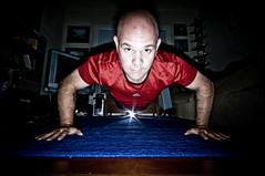 One Hundred Pushups (Glockoma) Tags: portrait selfportrait me self myself mine exercise rob year2 pushups challenge day240 robjones 365days strobist onehundredpushups 100puhups