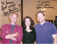 Jer with Doug Bradley & Ashley Laurence (J. Nemcosky) Tags: ashley collection autograph bradley laurence pinhead hellraiser hellbound cenobite dougbradley cliverbarker