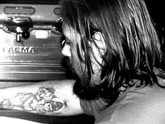 Luca (Pitt Rotelli) Tags: portrait people black coffee tattoo bar night vintage ganesha luca pub dusk withe profilo banchisa