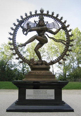Nataraj statue at CERN