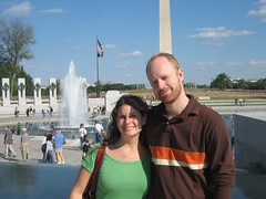 World War II memorial and Washington monument Pictured: Kevin McAnoy Erin McAnoy