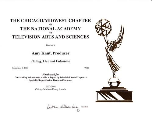 My Emmy Nomination