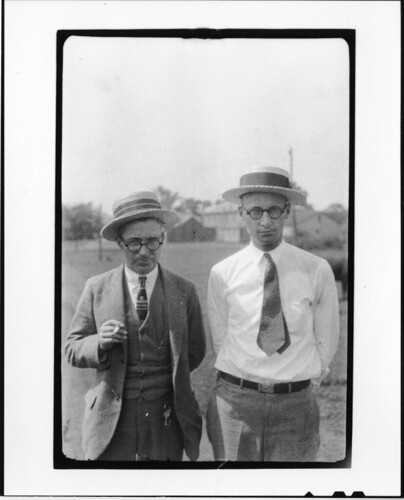 Tennessee v. John T. Scopes Trial: George Washington Rappleyea (l) and John Thomas Scopes (r), June 1925, by Watson Davis, Black and white photographic print, Record Unit 7091: Science Service, Records, 1902-1965, Smithsonian Institution Archives, Accession number: SIA2008-1121.