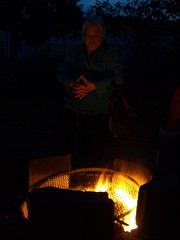 Contemplative (clearbrook4) Tags: fire magic oldlady ponder contemplative