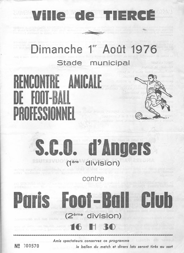 angers rencontre amicale