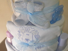 Blue nappy Cake 010 (russell.davina) Tags: nappy diaper diapercake babyshowergift nappycake babyshowercenterpiece babyhamper