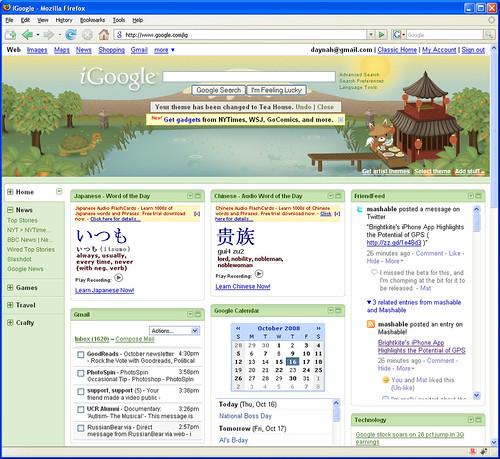 Daynah's iGoogle Page