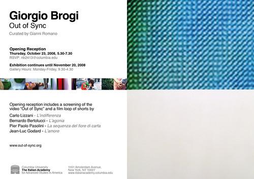 INVITE GIORGIO BROGI NY