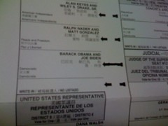 My first vote as an American