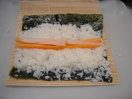 Sushi in progress